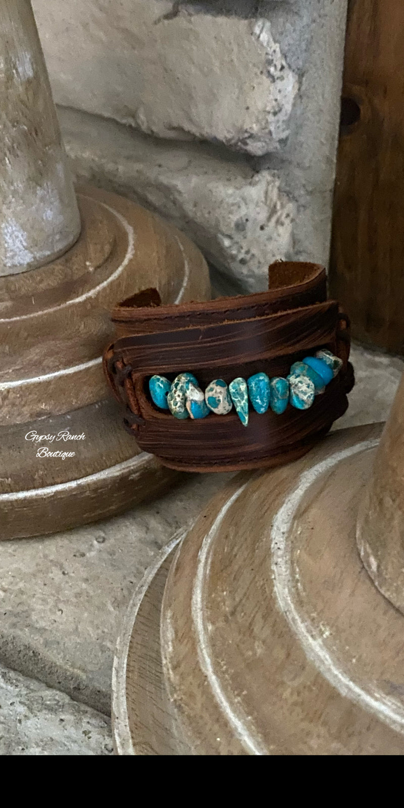 Hartley Jo Leather Turquoise Bracelet