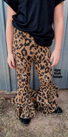 Kids Leopard Distressed Bell Jeans