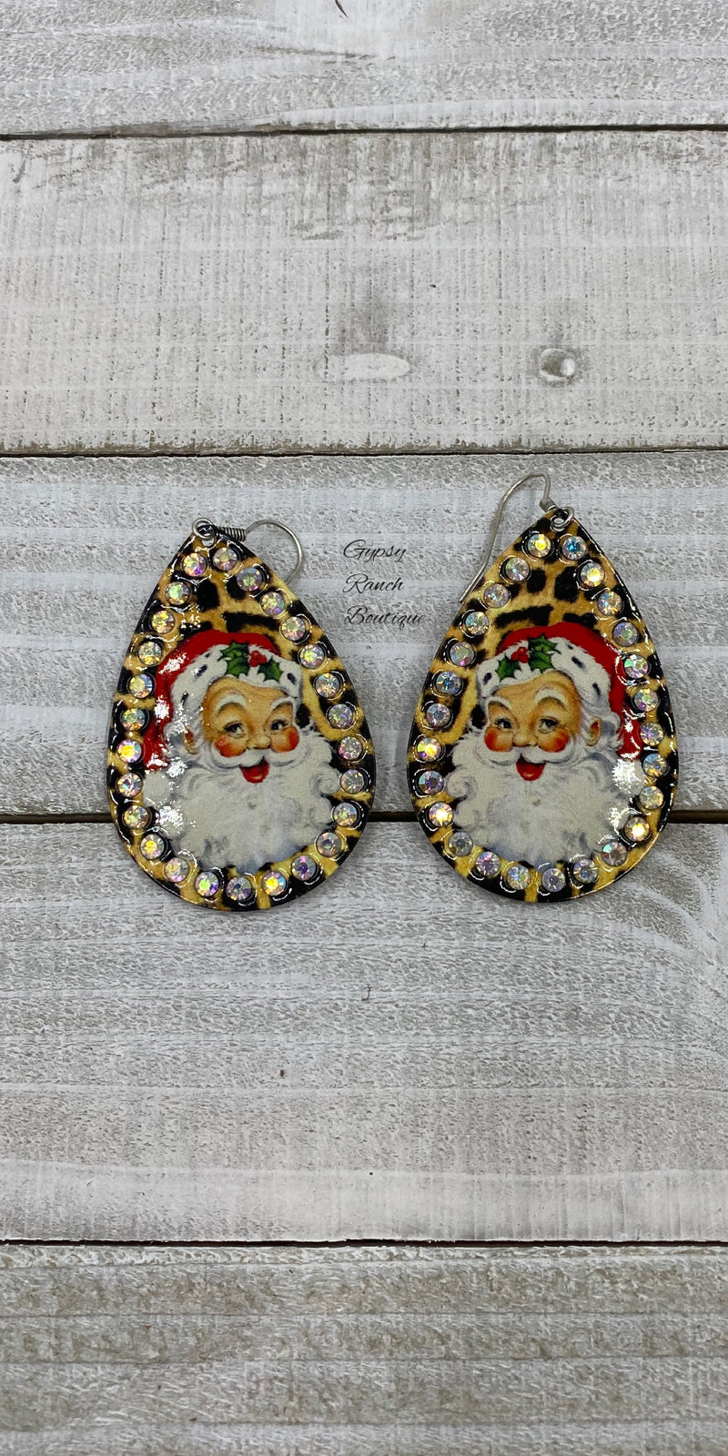 Santa Leopard Earrings