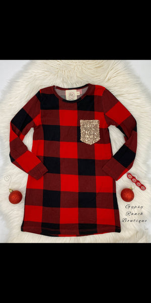 Layla Kids Buffalo Plaid Dress