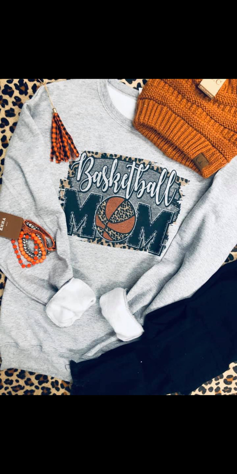 Basketball MOM Sweatshirt - Also in Plus Size