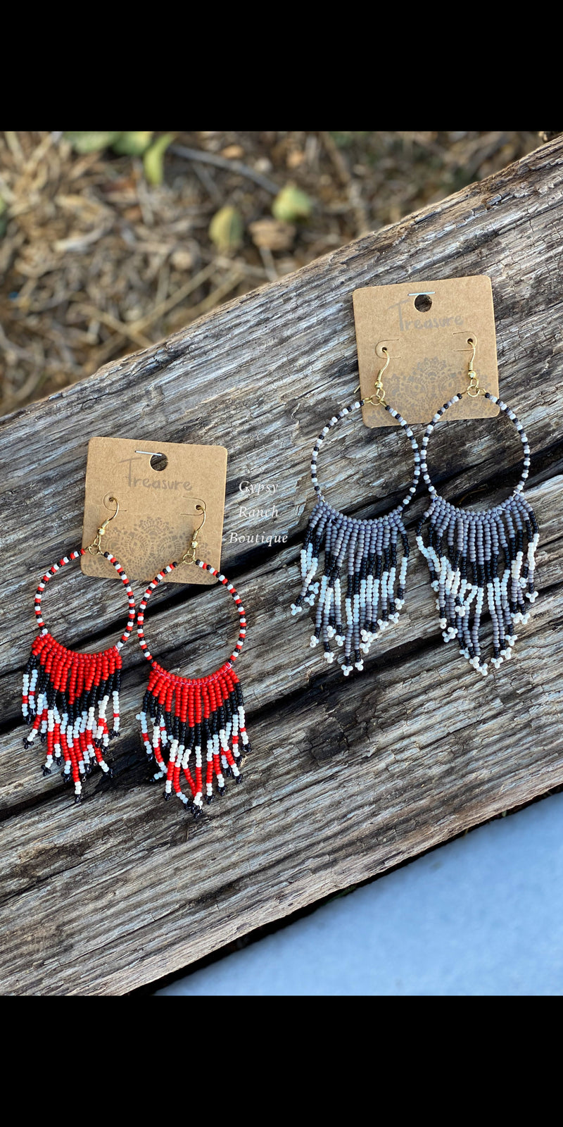OakRidge Tribal Beaded Earrings