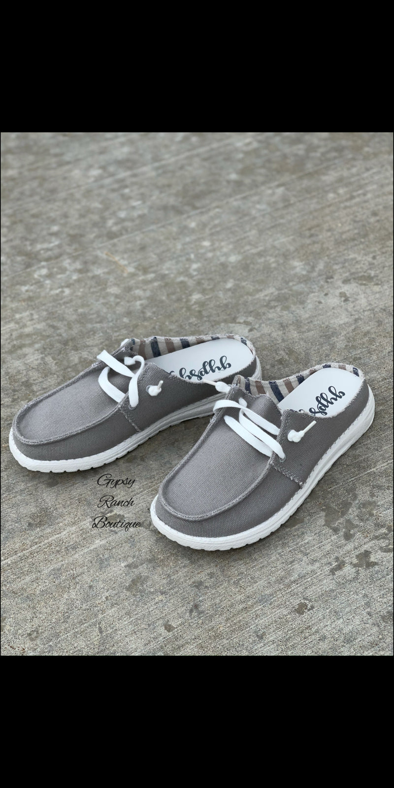 Sailor Gypsy Jazz GREY Slip On Shoes