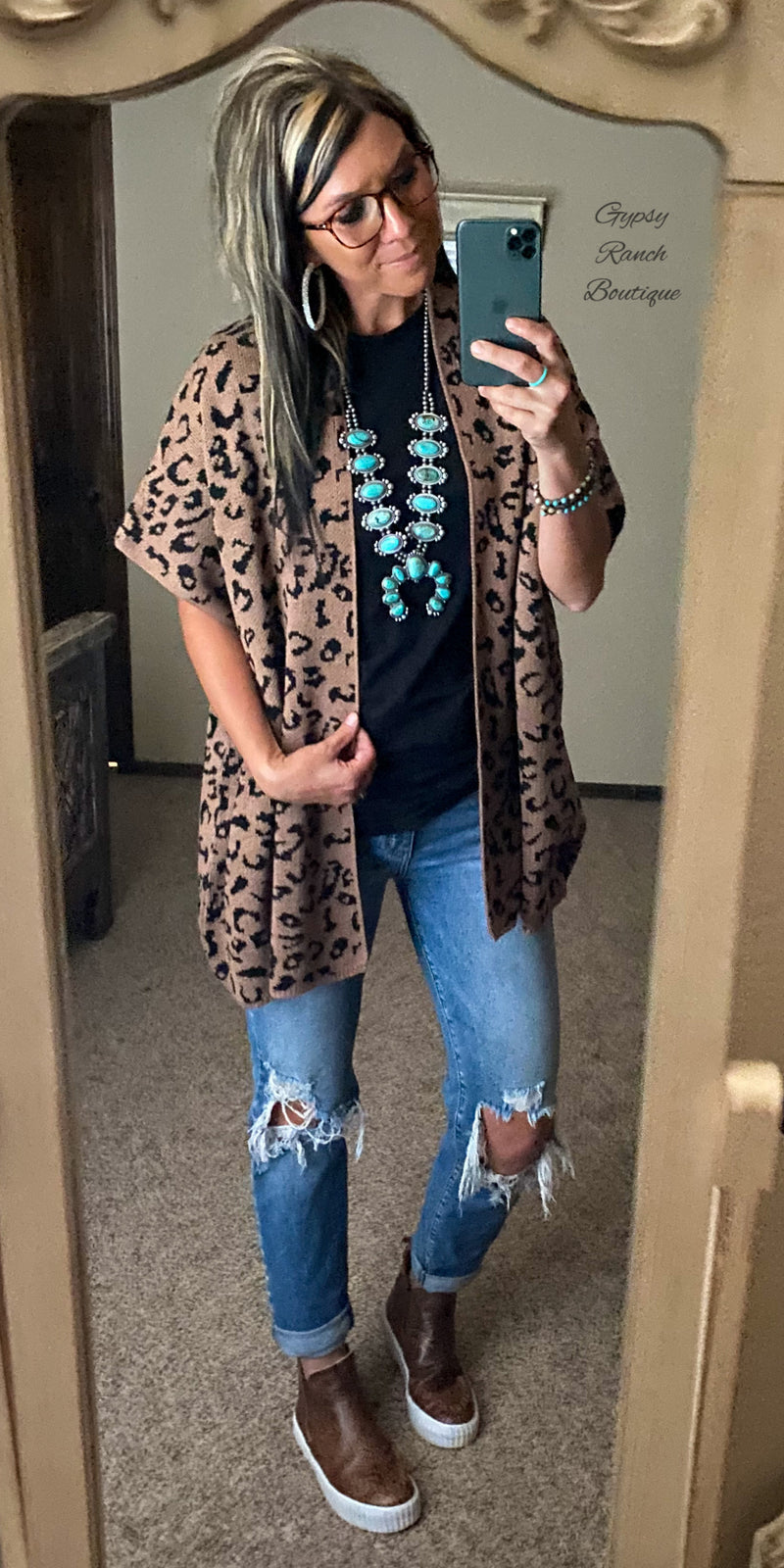 We Meet Again Leopard Cardigan - Also in Plus Size