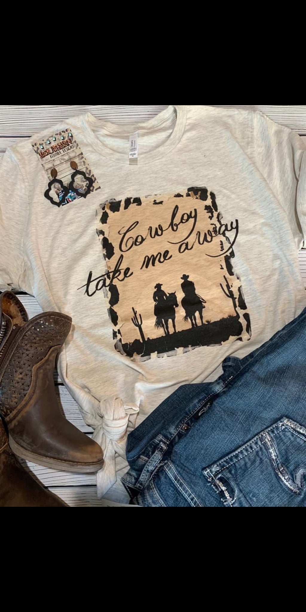 Cowboy Take Me Away Top - Also in Plus Size