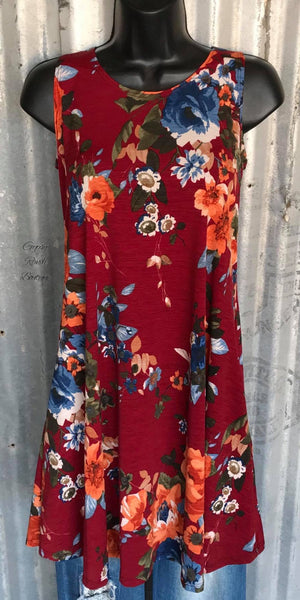 Dash of Sash Floral Tunic Dress
