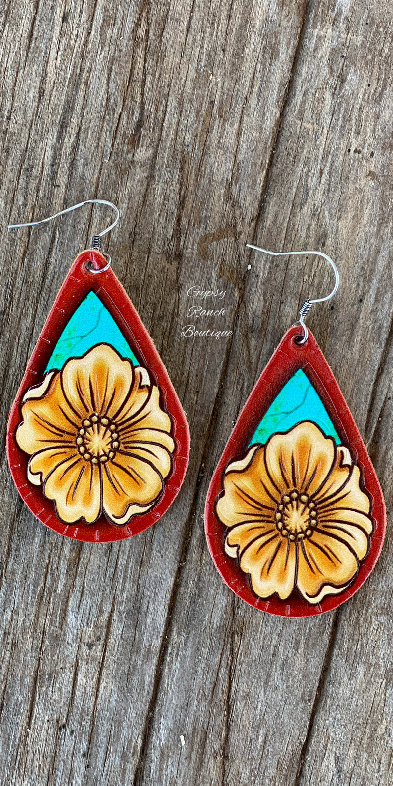 Tylee Genuine Leather Earrings