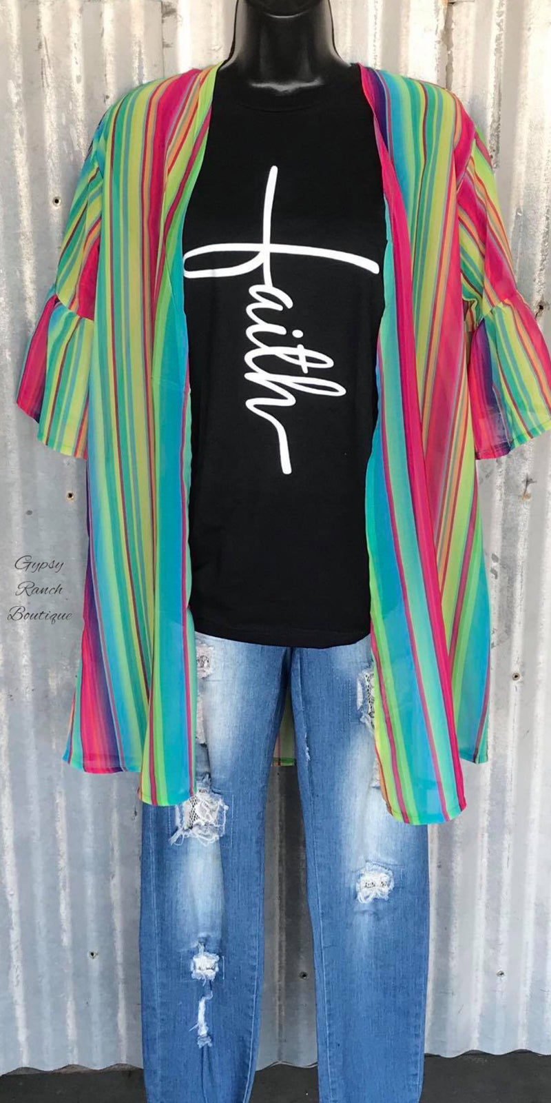 Make My Own Rules Serape Kimono -  Also in Plus Size