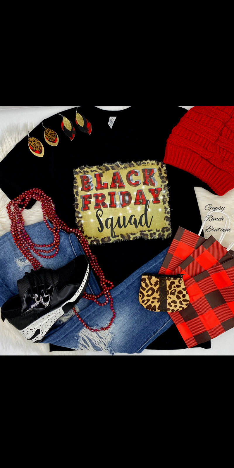 Black Friday Squad Top - Also in Plus Size