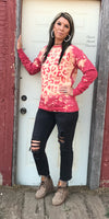 Scarlett Red Leopard Sweatshirt - Also in Plus Size