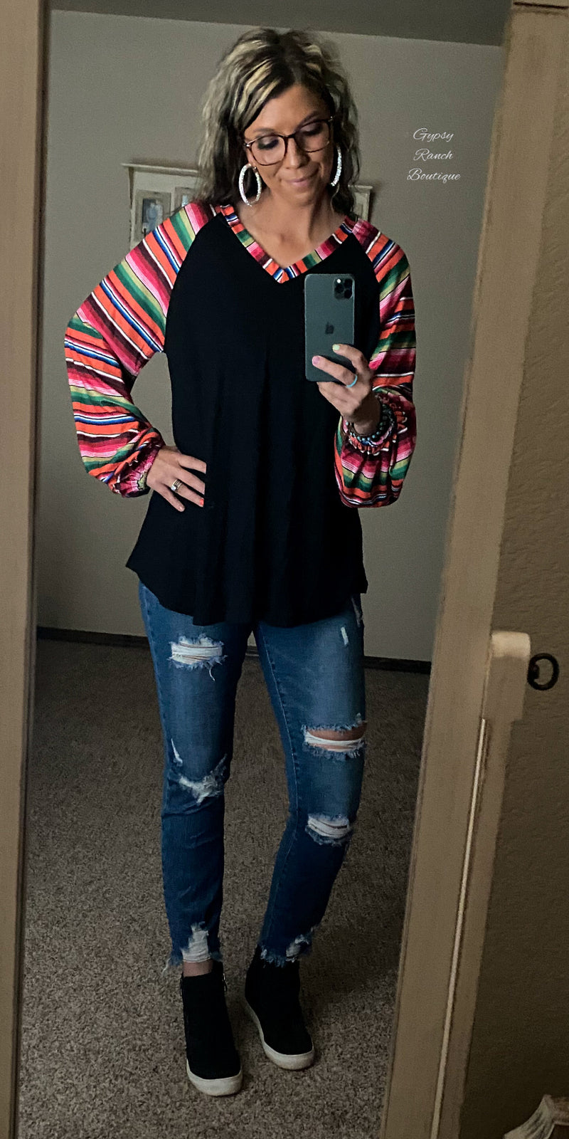 Lancaster Serape Top - Also in Plus Size