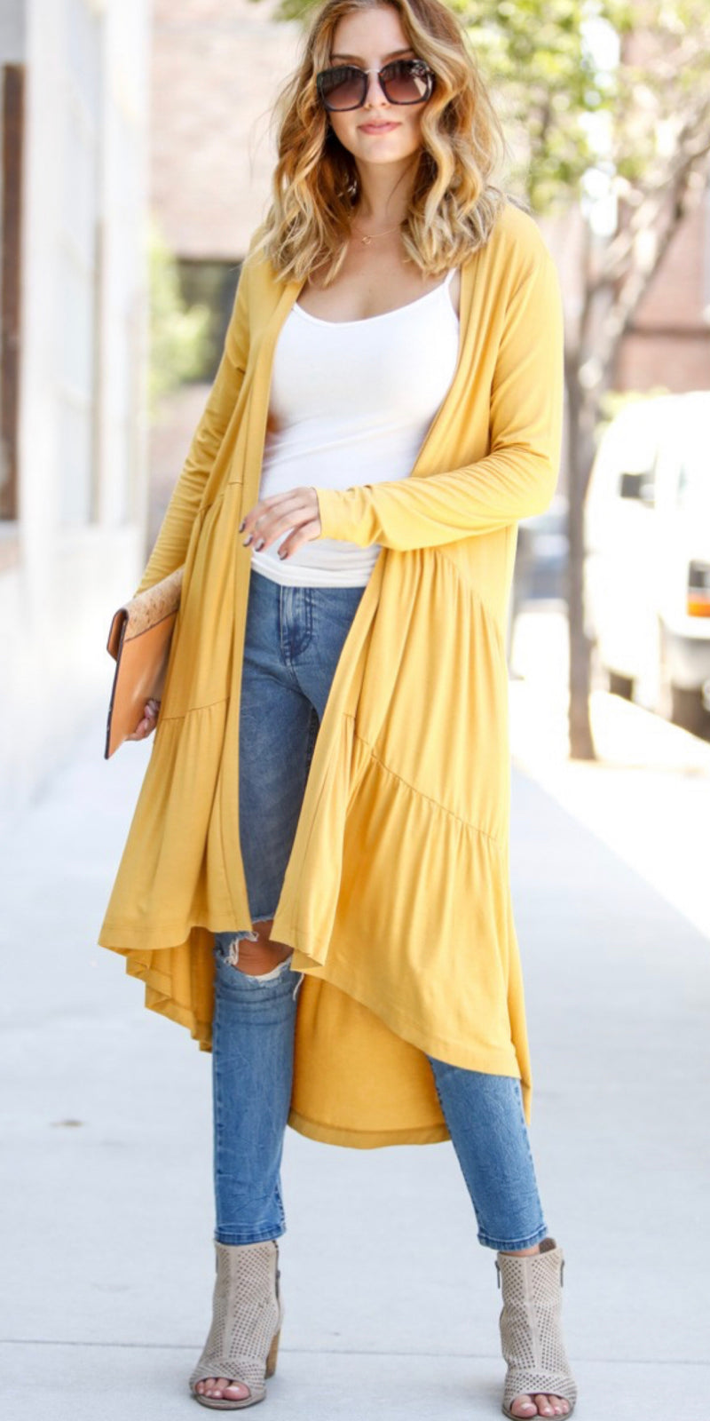 Casanova Mustard Cardigan - Also in Plus Size
