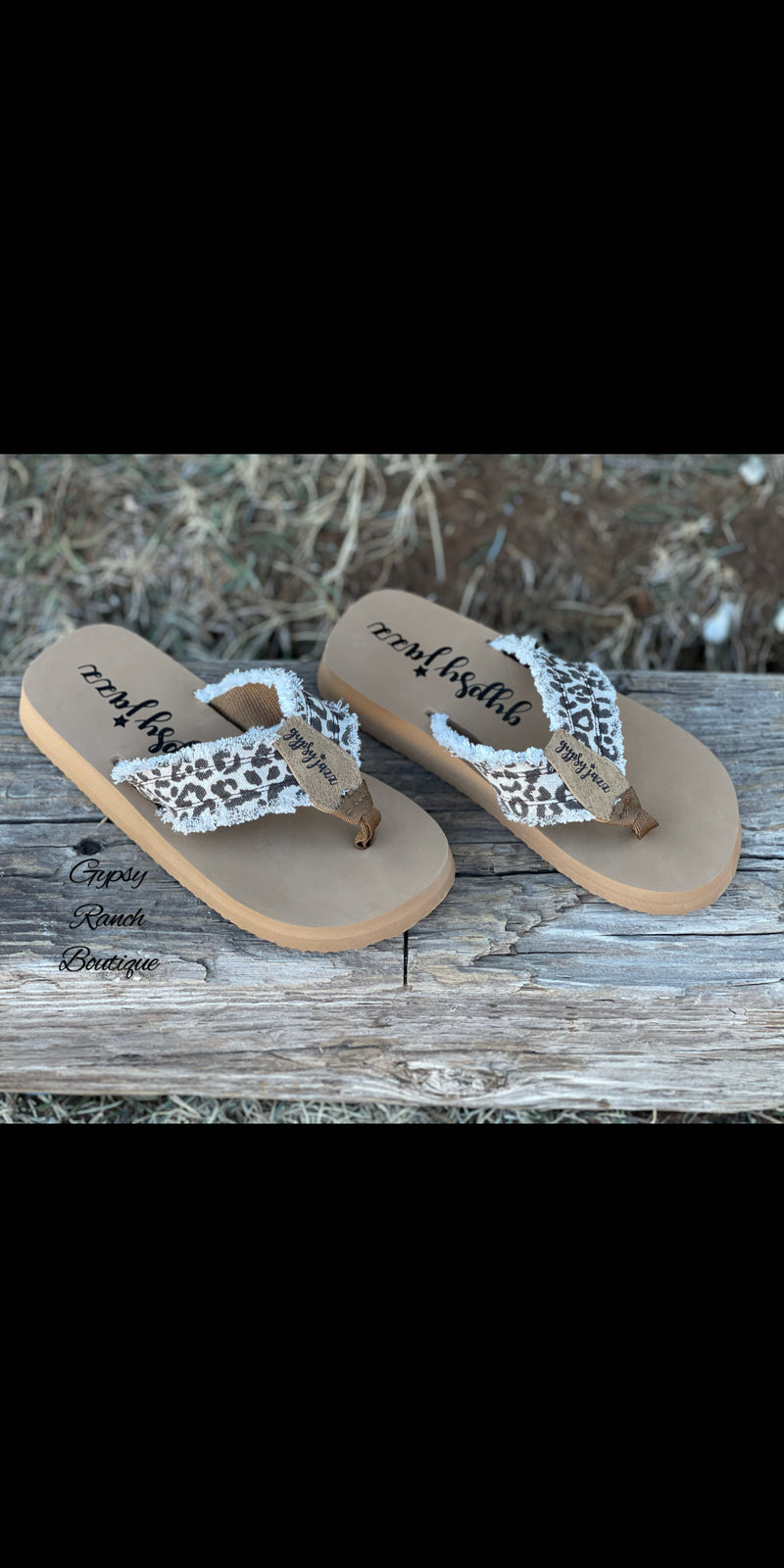 No Limits Leopard Print Gypsy Jazz Flip Flop Sandals