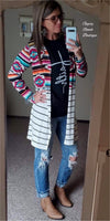 Cast My Cares Tribal Cardigan  - Also in Plus Size