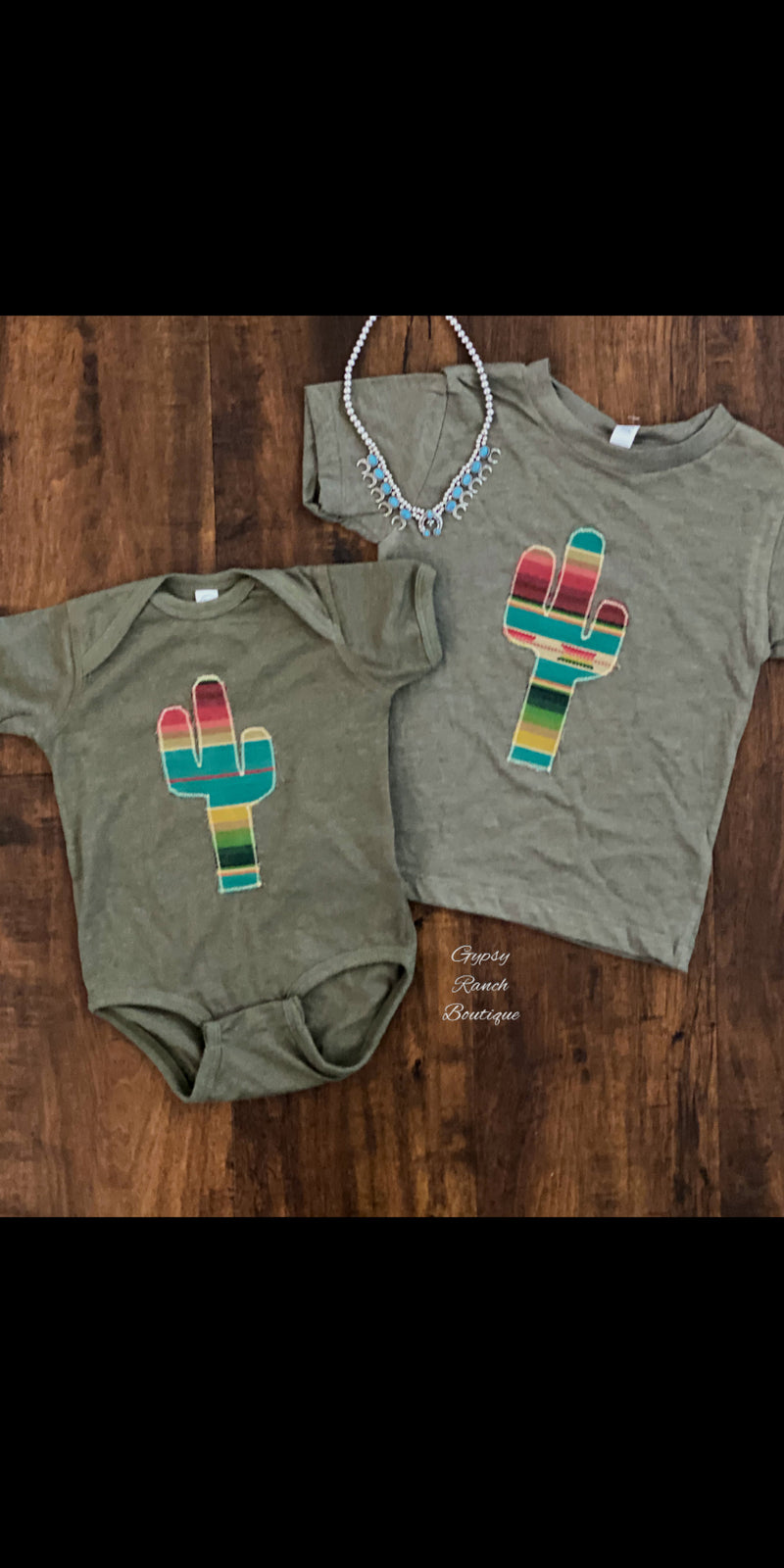 Embroidered Cactus Serape Kids & Onesie