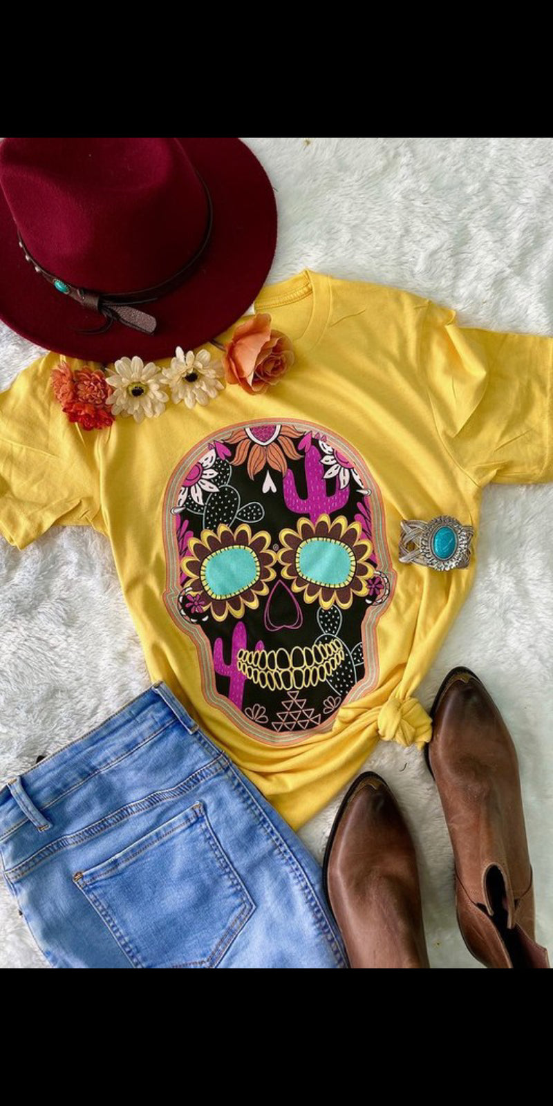 Hillsboro Sugar Skull Top - Also in Plus Size