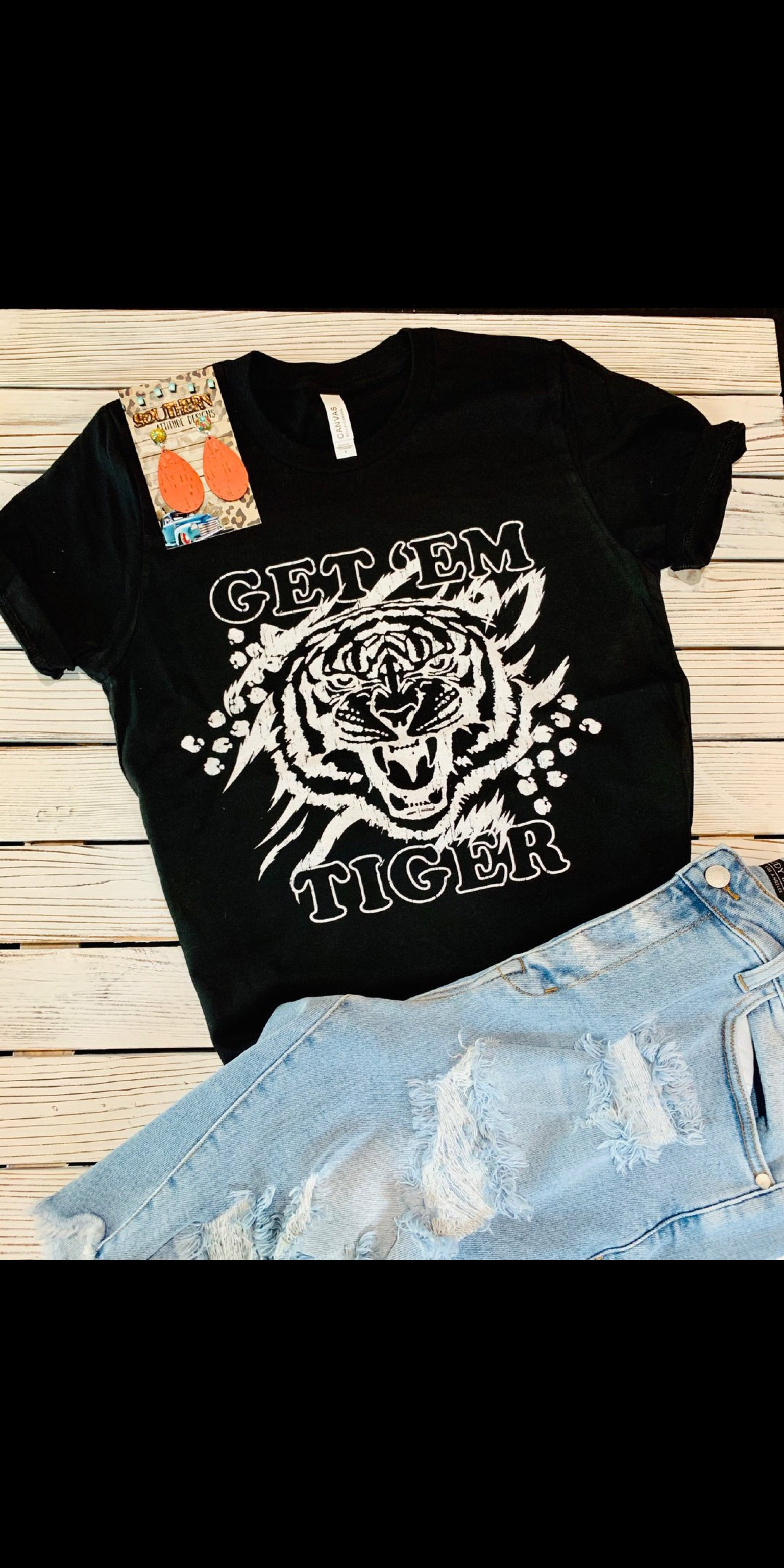 Get Em Tiger Top - Also in Plus Size
