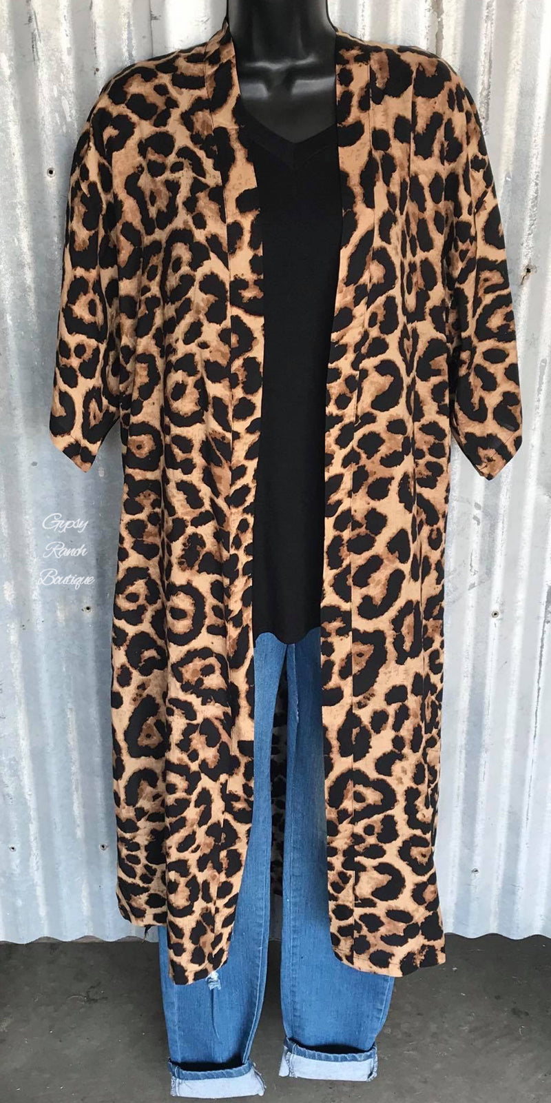 Aurora Leopard Duster Cardigan - Also in Plus Size
