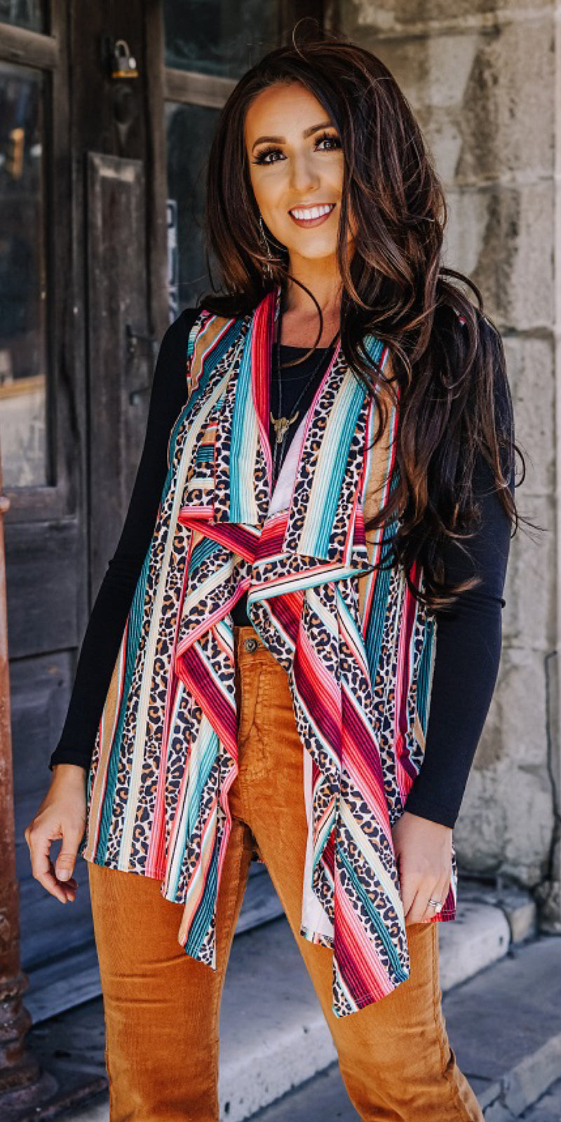 Serape Showdown Vest-Also in Plus Size