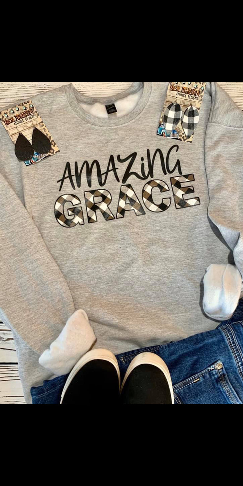 Amazing Grace Sweatshirt - Also in Plus Size