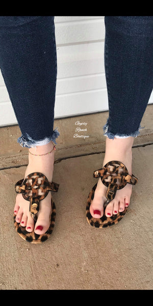 Lady Luck Leopard Sandals