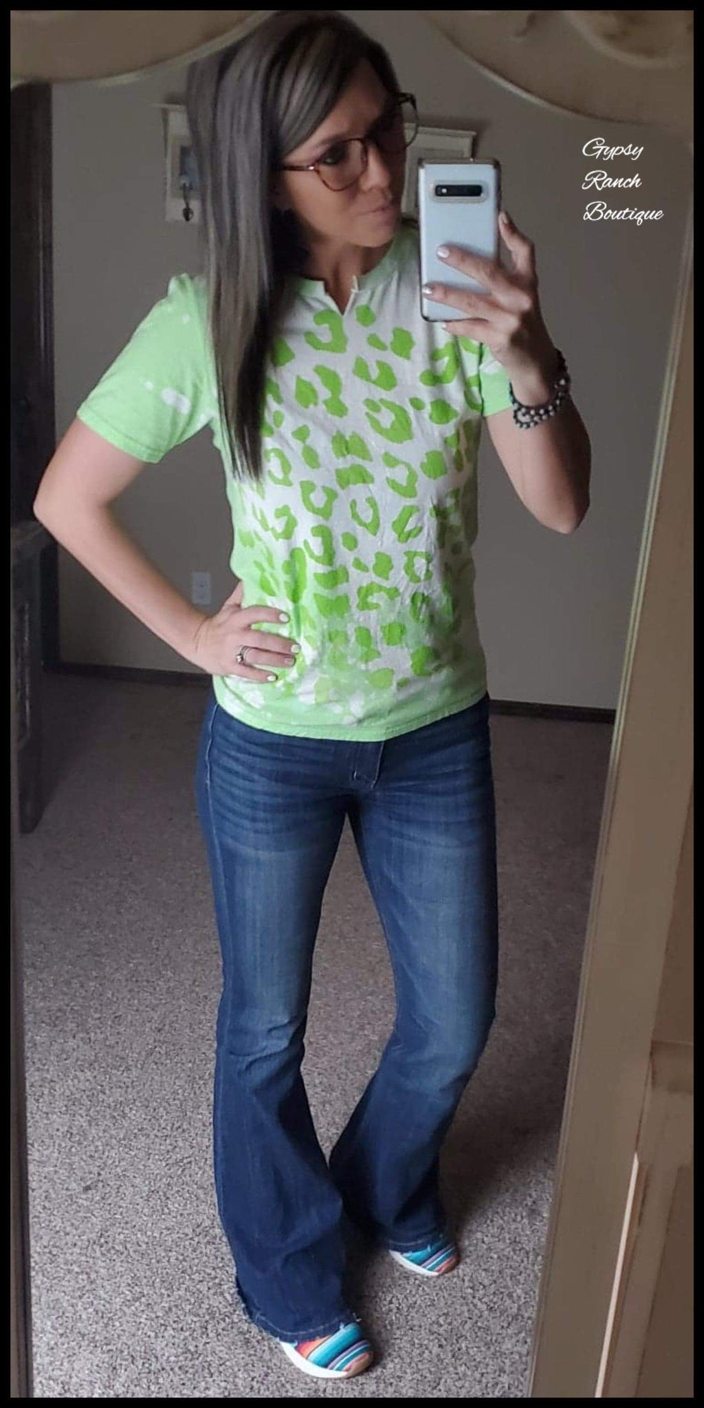 Lime in Leopard Top - Also in Plus Size