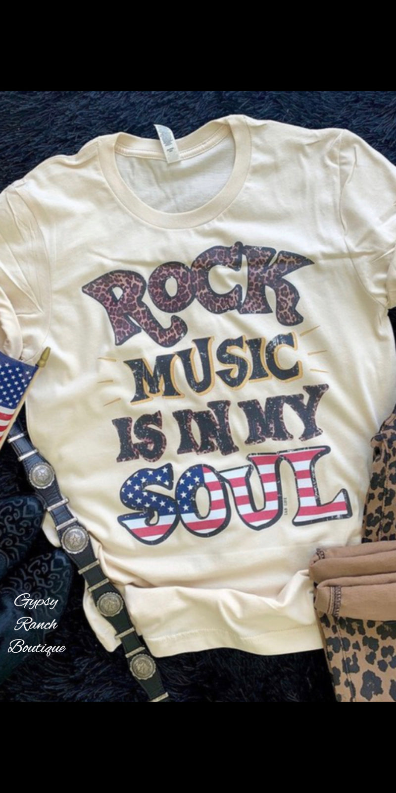 Rock Music is in My Soul Top - Also in Plus Size