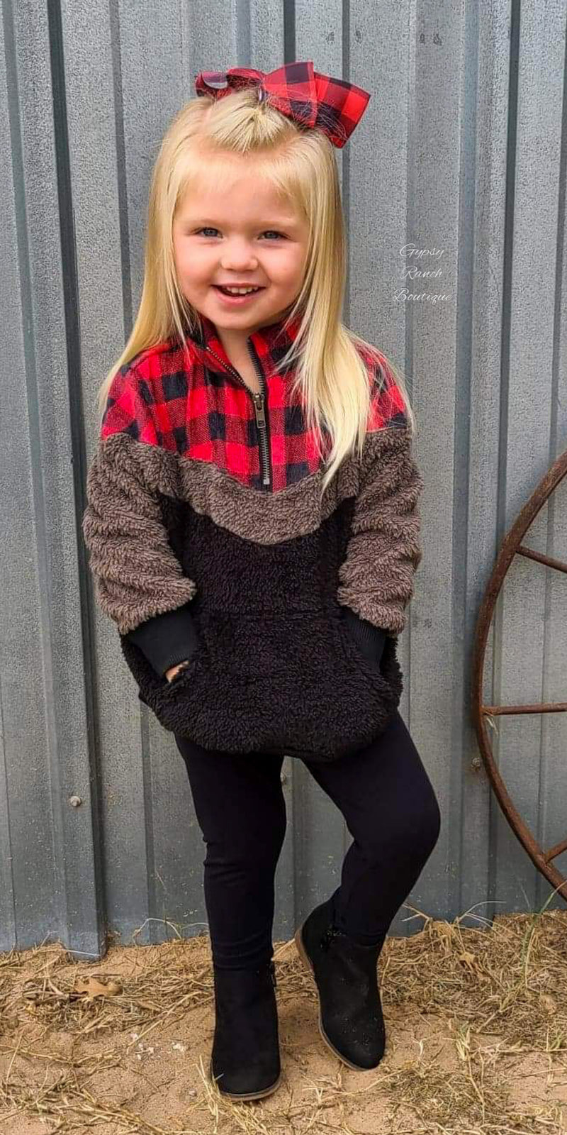 Kennedy Buffalo Plaid Kids Pullover