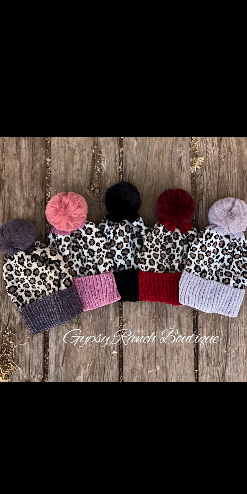Black Friday Chenille Leopard Beanie