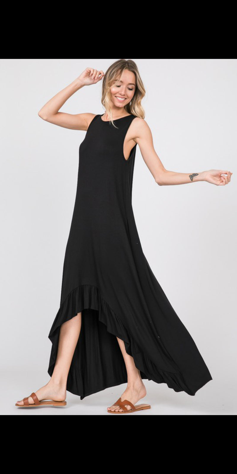 Brogan Black Maxi  Dress - Also in Plus Size
