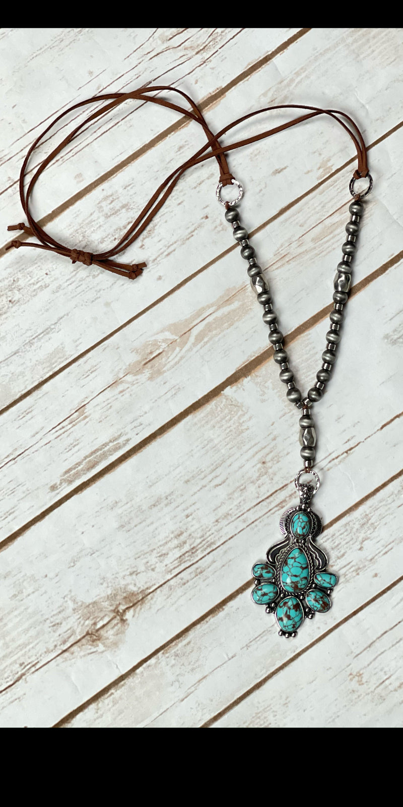 Twin Falls Turquoise Long Necklace