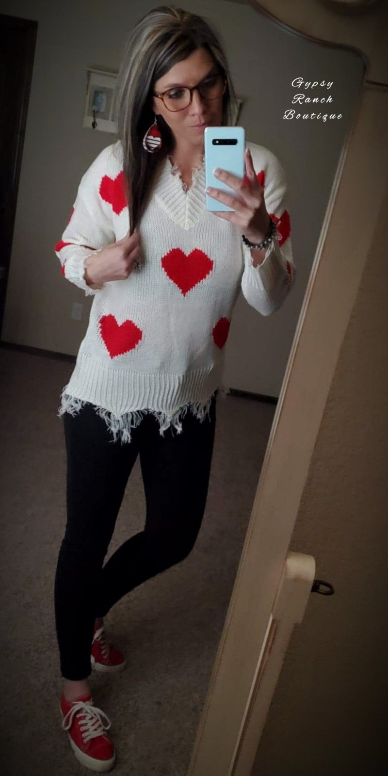 Give it All Your Heart Hem Sweater Top - Also in Plus Size