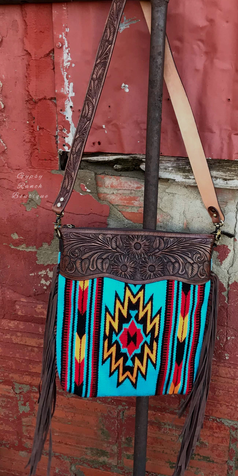 Tularosa Tribal Fringe Tooled Purse Tote