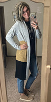 The Bayside Mustard Color Block Cardigan - Also in Plus Size