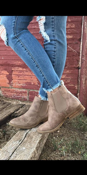 Windthorst Taupe Bootie Shoes