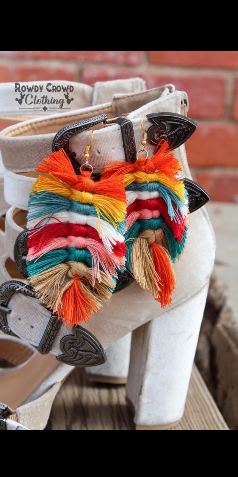 Boho Brights Tassel Earrings