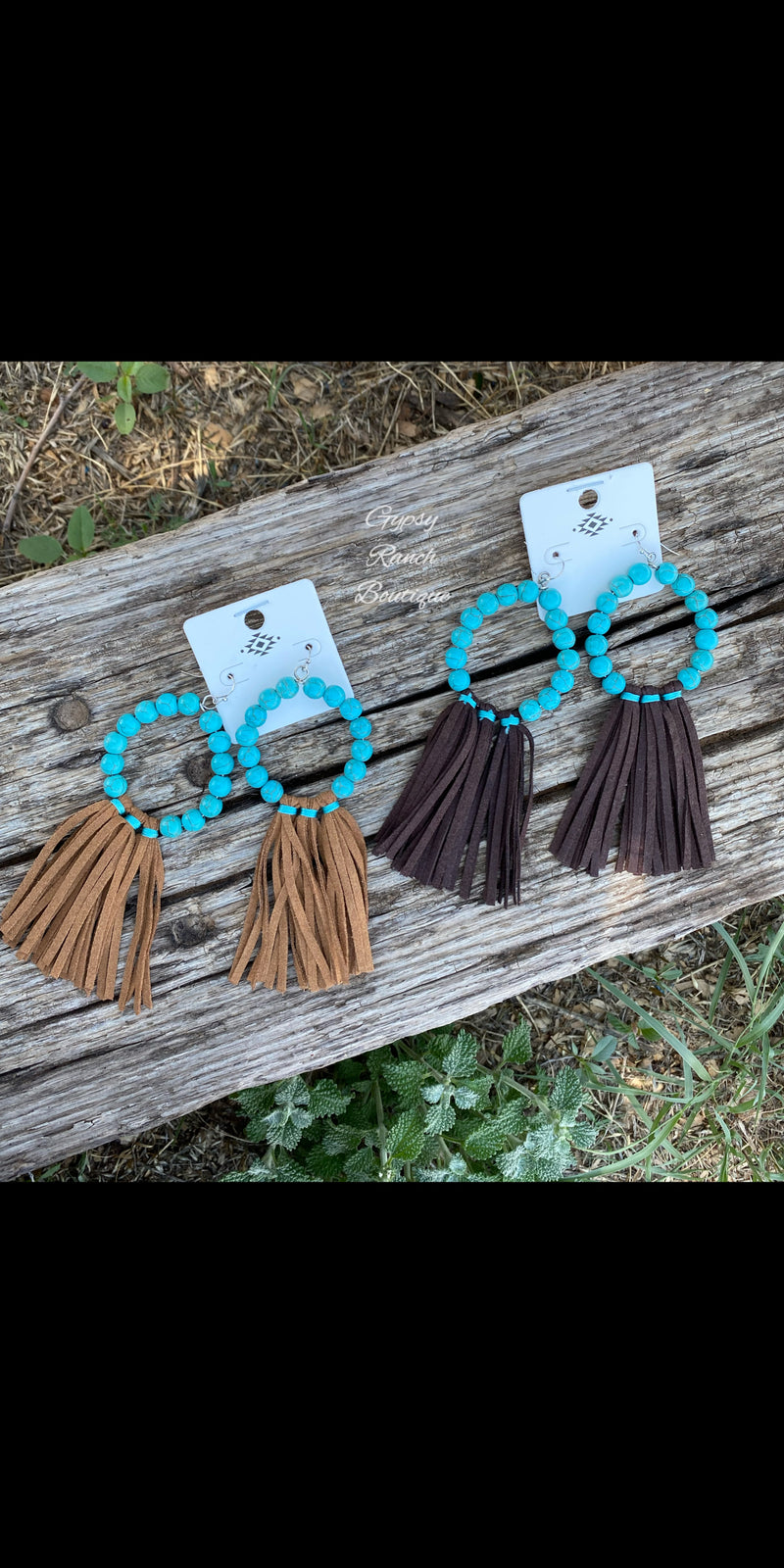 Windham Turquoise Tassel Earrings - 2 colors