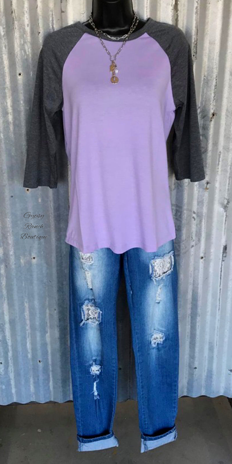Kenz Violet Raglan Top-Also in Plus Size