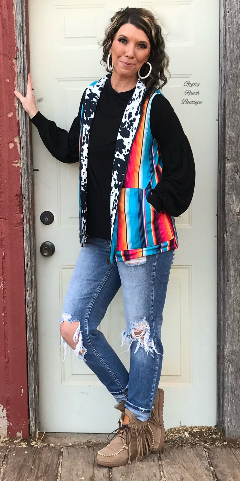 Southern Serape Vest - Also in Plus Size