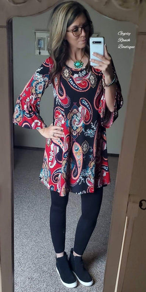 They Call Her Fancy Paisley Tunic Dress  - Also in Plus Size