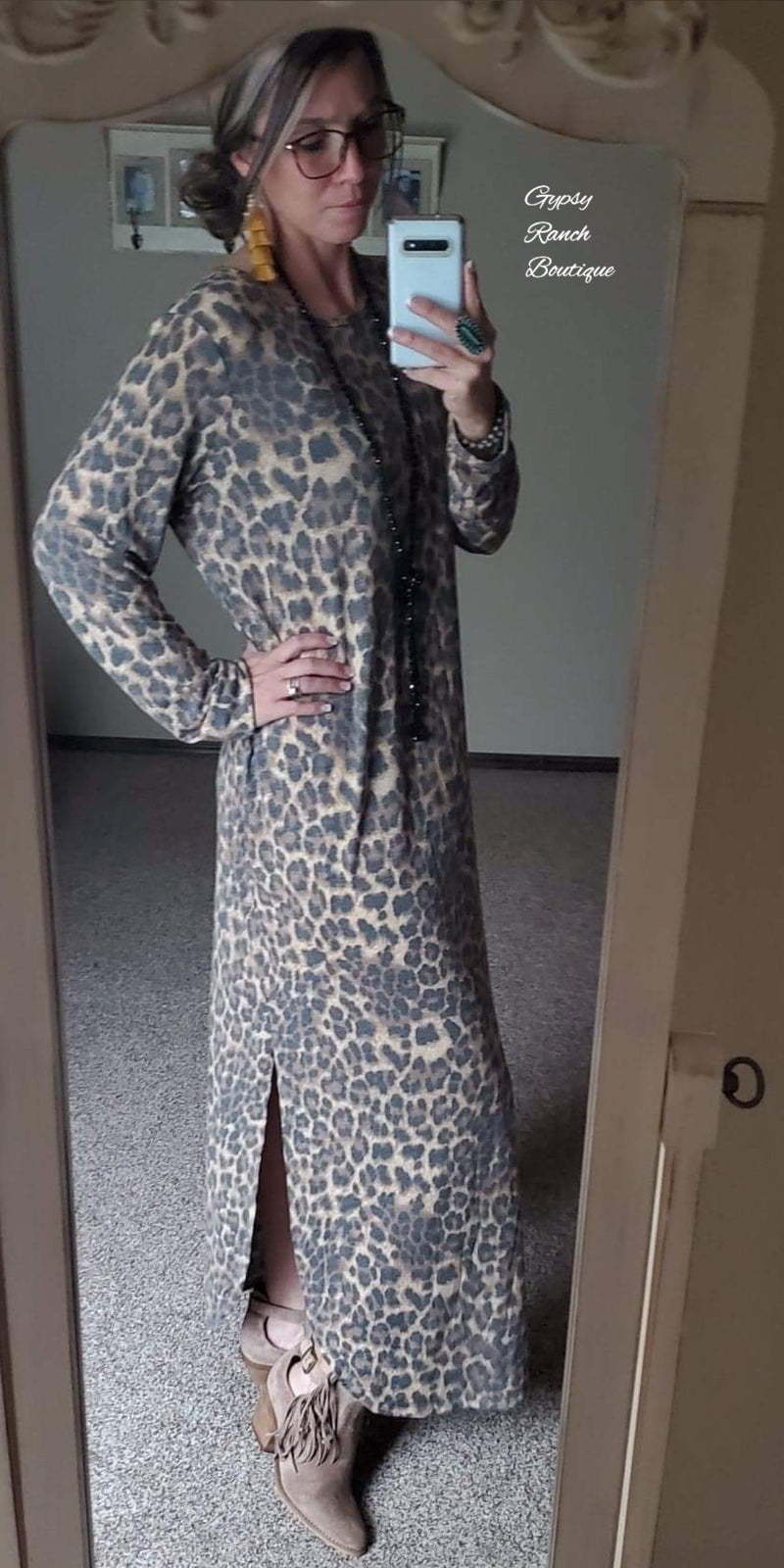 Brenham Leopard Maxi  Dress - Also in Plus Size