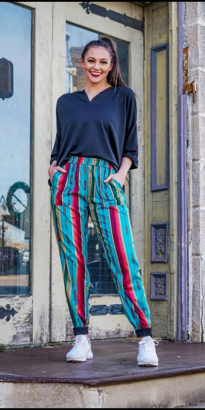 Reydon Serape Reversible Jogger Pants - Also in Plus Size