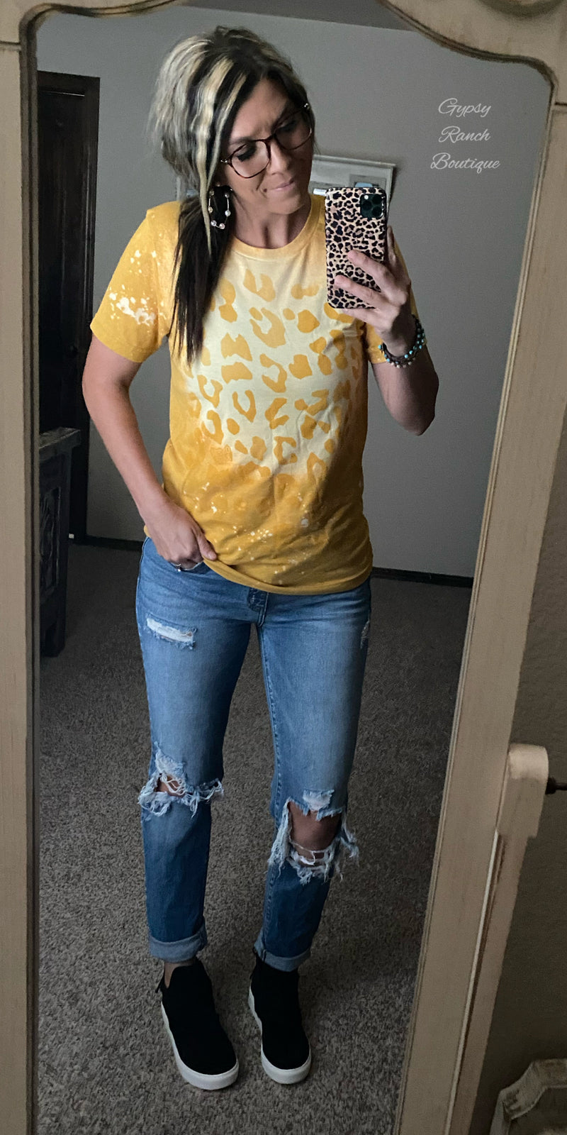 Mustard Leopard Dreams Top - Also in Plus Size