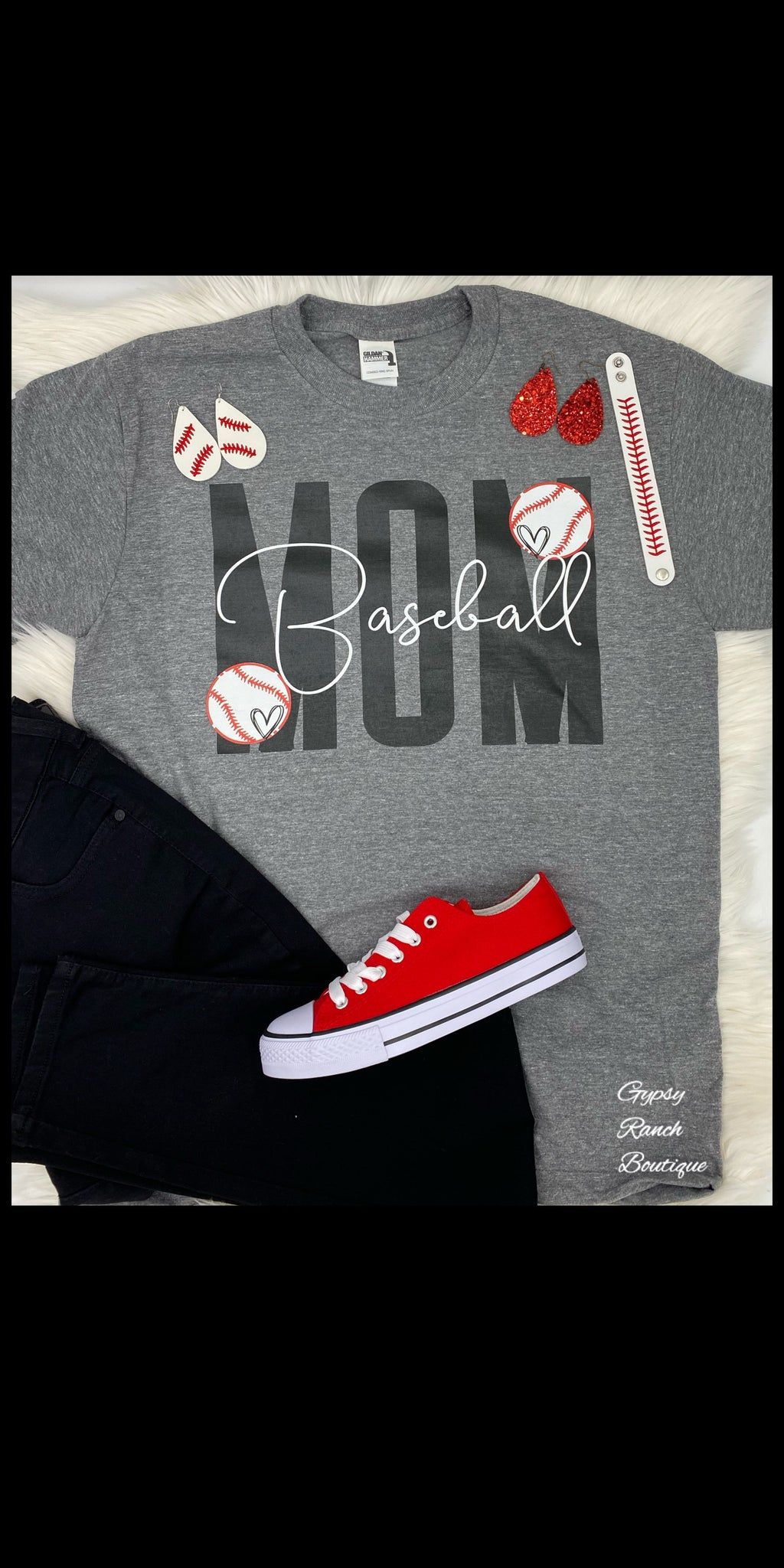 Baseball MOM Top - Also in Plus Size