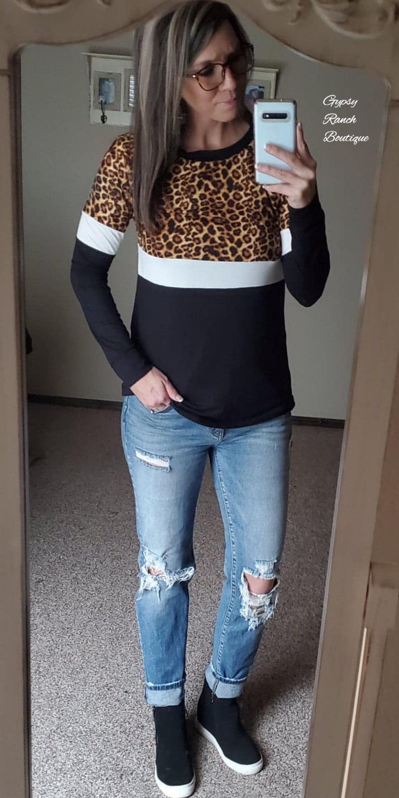 Dakota Leopard Top