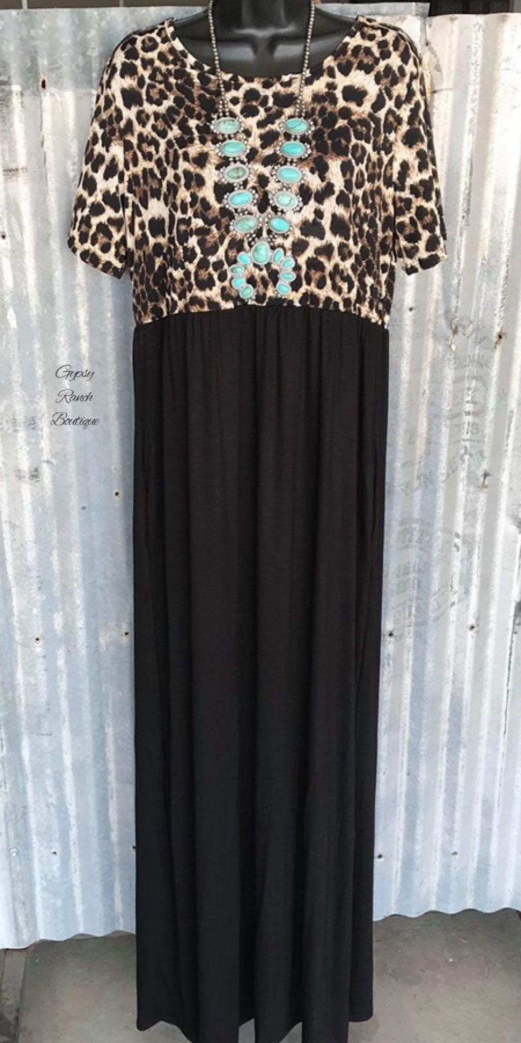 Loretta Leopard Maxi  Dress - Also in Plus Size