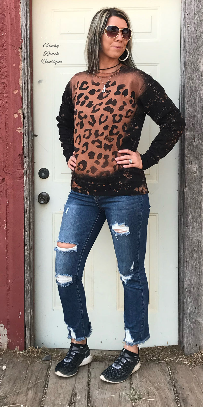 Road Less Travelled Leopard Sweatshirt - Also in Plus Size