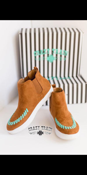 Stitch Fix Tan & Turquoise Shoes