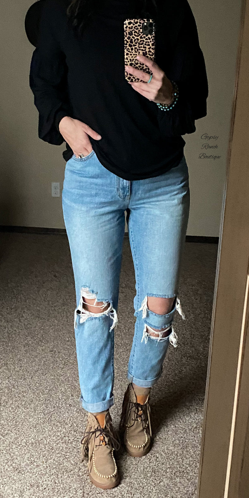 The Halsey Distressed Jeans