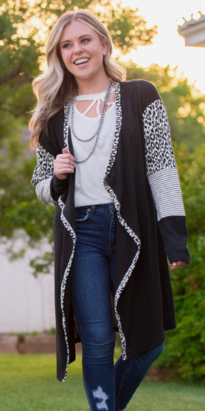 Uptown Leopard Cardigan - Also in Plus Size